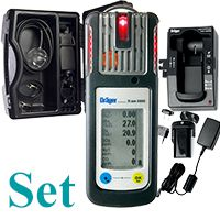 █ AKTIONS-Set: Dräger X-am 5600 IR-Ex/CO2, O2, CO, H2S, Akku/Ladet., CSE-Koffer, Pumpe....